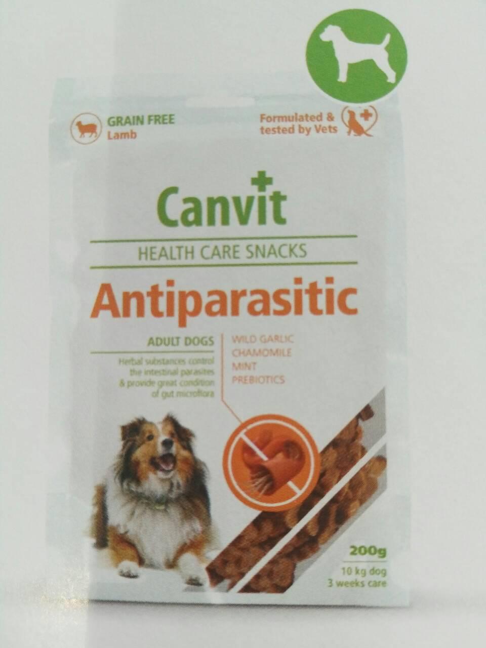 Canvit Antiparasitic (Канвит Антипараситик) полувлажное функциональное лакомство для собак 200 г