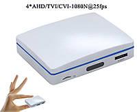 4-х канальный AHD/TVI/CVI/IP мини регистратор c записью на SD + HDD (JV-AVR1104)
