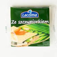 Сыр порционный Lactima Ze Szczypiorkiem, 140г, фото 1