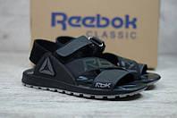 ХИТ 2021 Стильные молодежные кожаные сандалии Reebok, мужские сандали топ цена, чоловічі сандалі літо шкіра.