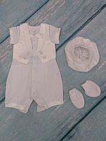 Торжественный наряд для новорожденного (ажур)