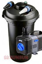 Комплект оборудования для пруда, Sunsun CPF 500, CTP-8 000