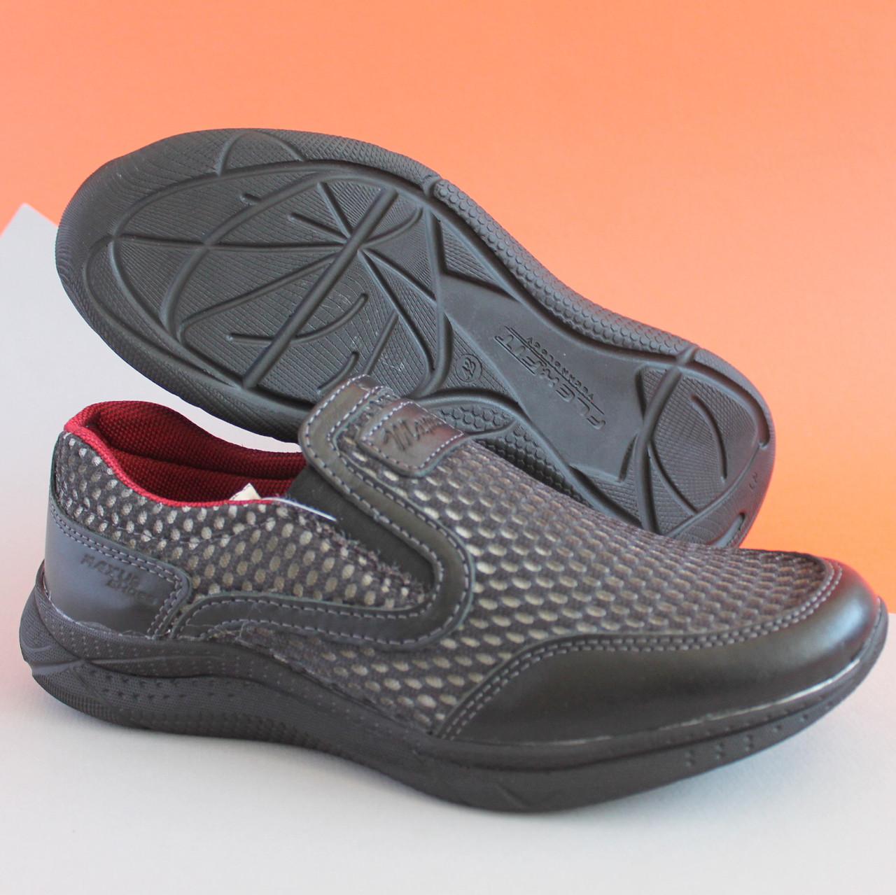 e939043f1 Кожаные черные кроссовки-мокасины для мальчика подростка размер 40,41,42