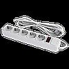 Сетевой электрический фильтр - удлинитель 5 розеток 3 м LP-X5, 3m серый