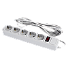 Сетевой электрический фильтр - удлинитель 5 розеток 3 м LP-X5, серый