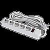 Сетевой электрический фильтр - удлинитель 5 розеток 4,5 м LP-X5, 4,5m серый