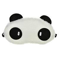 """Маска для сна """"Панда"""" меховая ткань, размер для девушек, 100% защита от света (глаза с палочками)"""