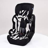 Детское автокресло черно-белое, зебра Bambi (M 3781-2-1)