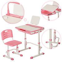 Детская регулируемая парта и стул, розовая Bambi  (M 3111-8)