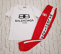 Стильный костюмчик BALANCIAGA фабричный Китай красный S M L , фото 1