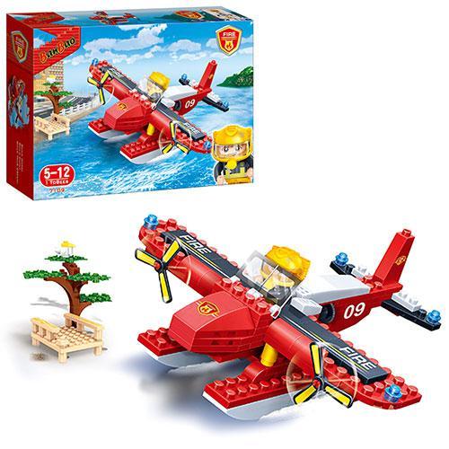 Конструктор BANBAO 7109  пожарный самолет, фигурка 1шт, 125дет, в кор-