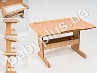 Парта-стол буковая Розумник.Подходит как для первоклассника так и для студента.Регулятор высоты позволяет установить один из 8 у