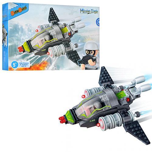 Конструктор BANBAO 6213  военный самолет, фигурки 2шт, 155дет, в кор-к