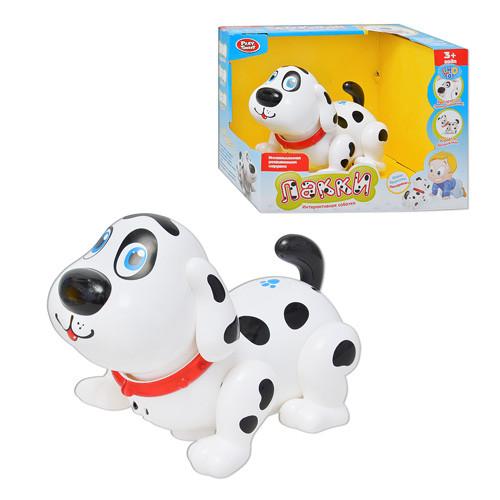 Собака 7110  Лакки, интерактивная, звук(рус), свет, на бат-ке, в кор-к