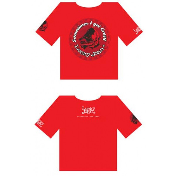 Футболка Lucky John красная L LJ-102-XXL