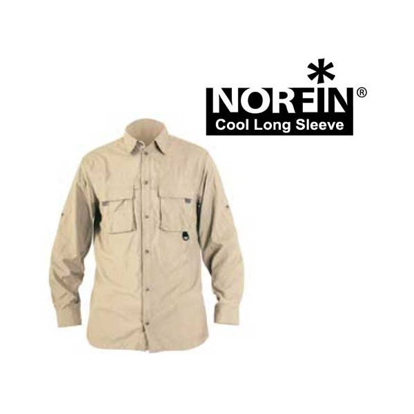 Рубашка NORFIN COOL LONG SLEEVE (бежевая) 65100
