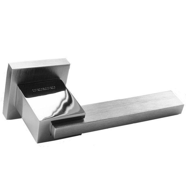 Дверная ручка ORO&ORO ALEXA 041-15E SCH/CP матовый хром/хром