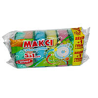 Губки для мытья посуды Vivat Макси 5+1 (рифленая поверхность)