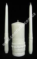 30767 Шебби шик пастель, свадебные свечи семейный очаг (3 шт), цвет белый
