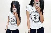 Футболка женская, модная и стильная, размеры S M L XL Турция