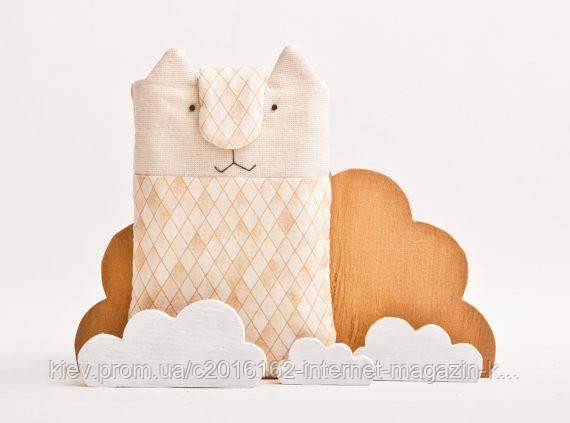 Чехол для смартфона iphone 6 ручной работы кот оранжевый в клетку ткань
