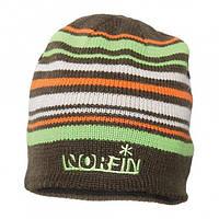 Шапка вязаная Norfin (коричневая в полоску) 302772-BR-L