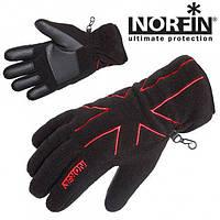 Перчатки женские флисовые с Thisulate Norfin BLACK WOMEN 705062