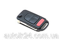 Заготовка корпус выкидного ключа 3 кнопки+Panic Mercedes Лезвие HU64