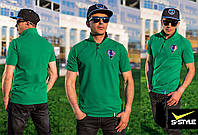 Мужская футболка поло из трикотажа