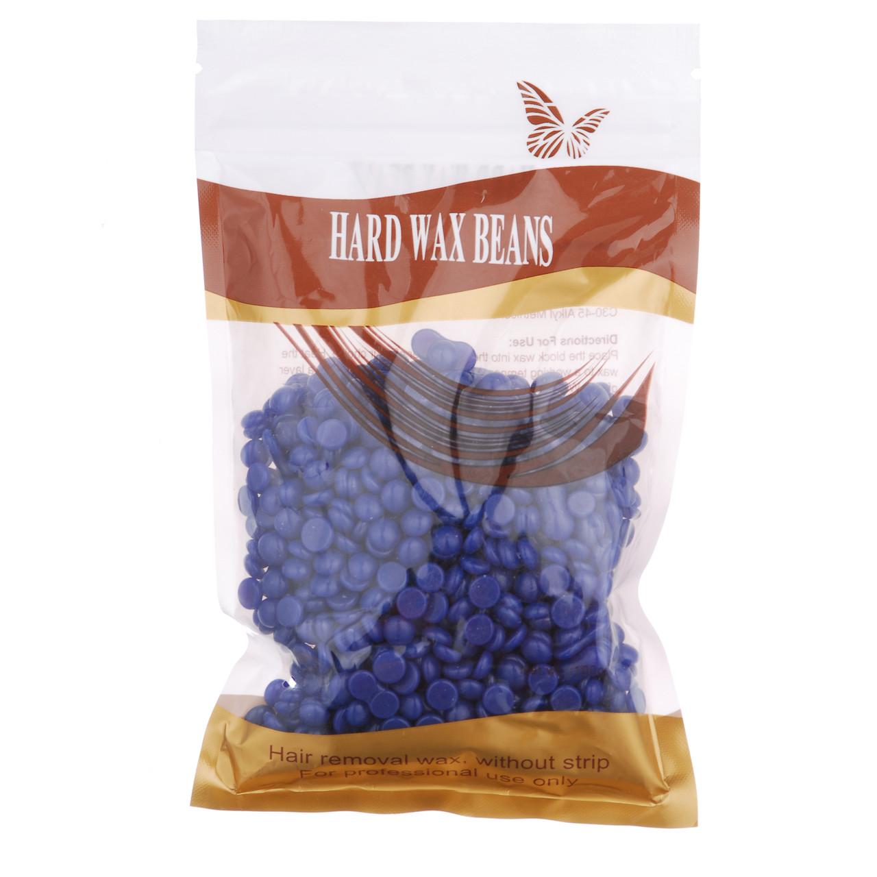 Воск для депиляции в гранулах HARD WAX BEANS 100 г Синий