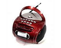 Портативна акустична система Golon RX-186 два кольори (червоний, чорний), USB / SD / MP3 / MMC, мережі 220 і від 4 батарейок