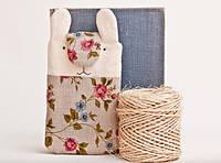 Чехол для смартфона ручной работы  и iphone кролик розы васильки узор ткань