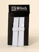 Трикотажные бретельки Diorella, белые. Розница и опт.
