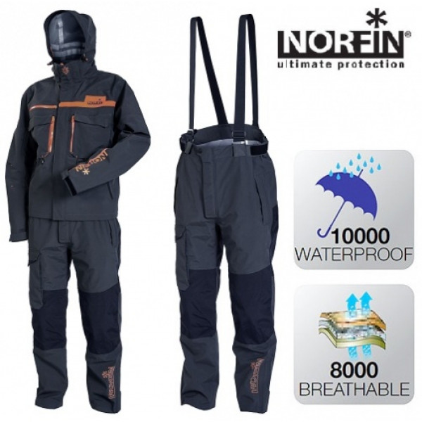 Костюм демисезонный Norfin Pro DRY GRAY 514101-S