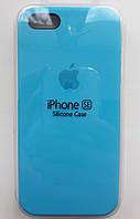 Чехол для iPhone 5S/SE Silicone Case бампер ( Light blue)