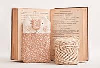 Чехол ручной работы для мобильного телефона и iphone кот бежевые цветы ткань