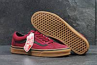 Кеды Vans Old Skool бордовые / D15344