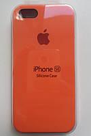 Чехол для iPhone 5S/SE Silicone Case бампер ( Orange)