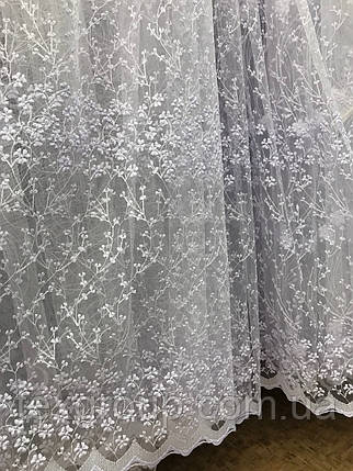 Тюль фатин белая VST-1090, фото 2
