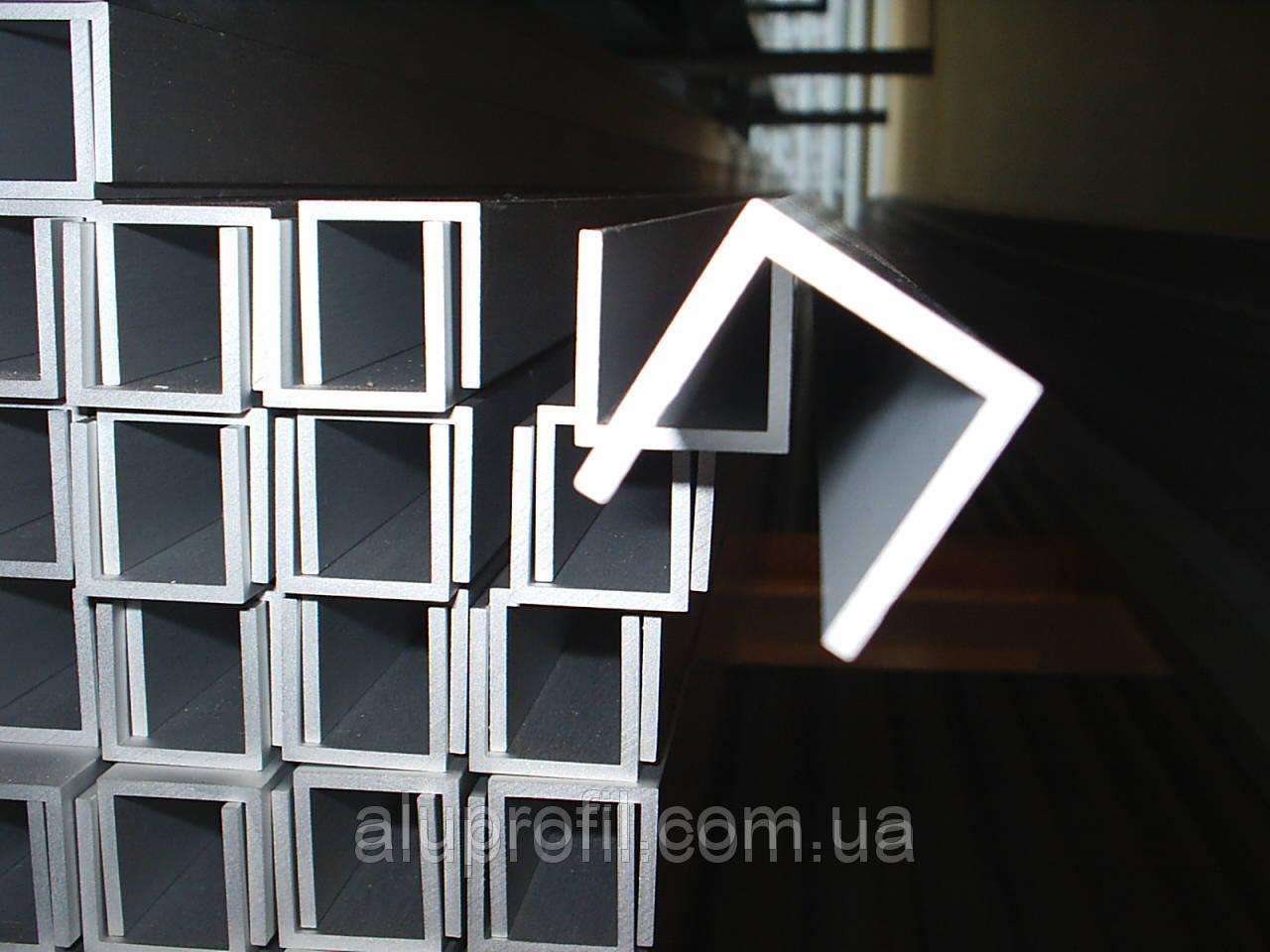 Алюминиевый профиль — п-образный алюминиевый профиль (швеллер) 20х20х2 AS