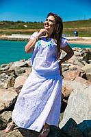 Женская летняя свободная блузка с вышивкой. Размеры блузки:М(46-48),L(48-50).Цвет:белый.