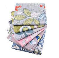Набор тканей (Ткань) Пастельные оттенки Цветы Листья для Пэчворка 40x50 см 6 шт, фото 1