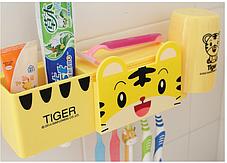 Держатель для ванной Тигренок ( набор с дозатором зубной пасты ), фото 3