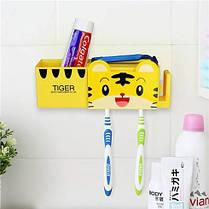 Держатель для ванной Тигренок ( набор с дозатором зубной пасты ), фото 2