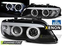 Передние фары тюнинг оптика BMW X5 E53 рестайл Xenon