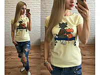 Женская футболка с рисунком Том и Джери СЦ29377, фото 1