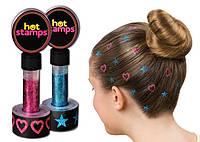 Цветная печать, стемпинг для волос Hot Stamps