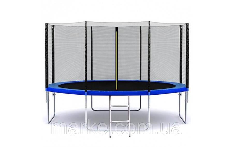 Батут SkyJump 374см (12ft) диаметр с внешней сеткой спортивный для детей и взрослых