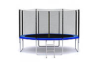 Батут SkyJump 374см (12ft) диаметр с внешней сеткой спортивный для детей и взрослых, фото 1
