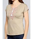 Жіноча вишита футболка. Великий вибір жіночих вишиванок. Вишиванки жіночі., фото 2